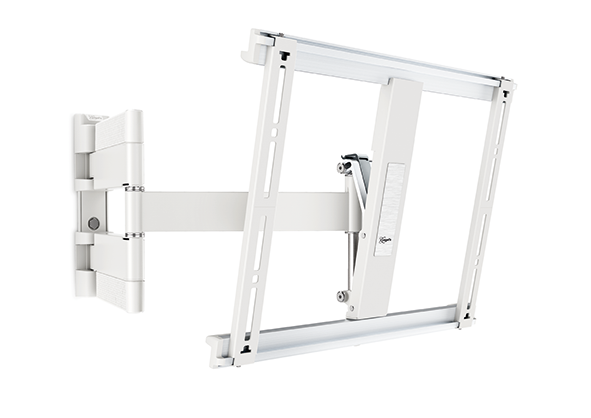 An image of Vogel's Alpine THIN445 WHITE Ultra Thin OLED/LED TV Tilt & Swivel Wall Mount 32 ...