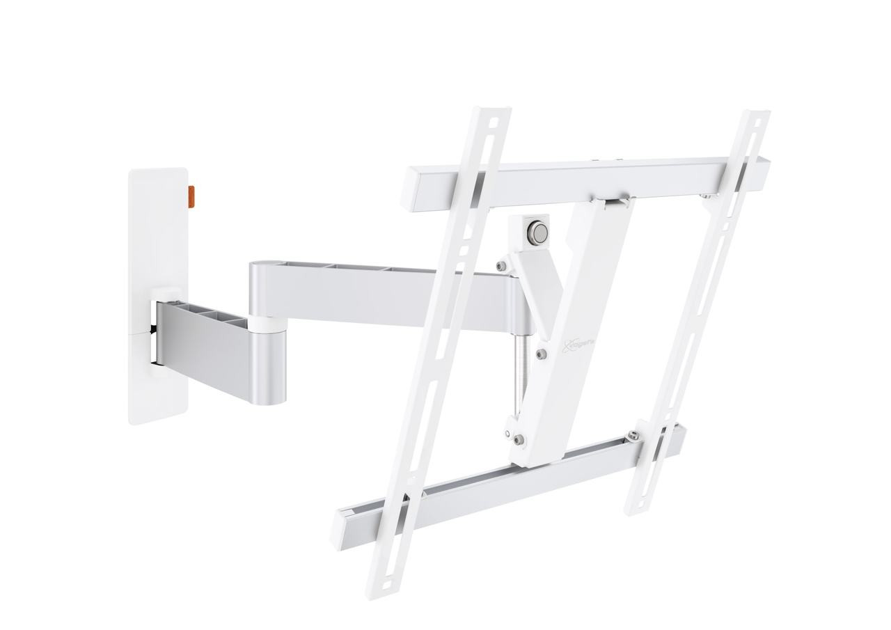 An image of Vogel's WALL 3245 Full-Motion TV Wall Mount (white) Cantilever Wall Mount 32-55""