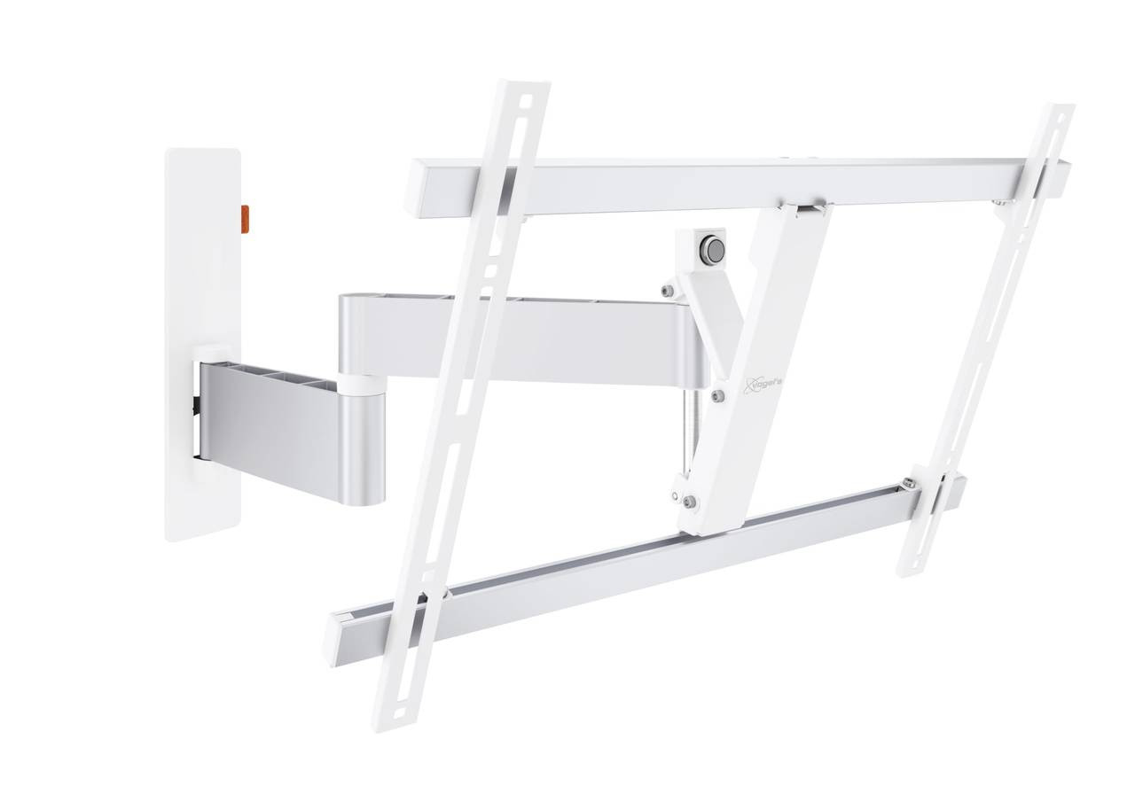"An image of Vogel's WALL 3345 White Full-Motion TV Wall Mount 40"" - 65"""