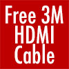 Free 3M HDMI Cable